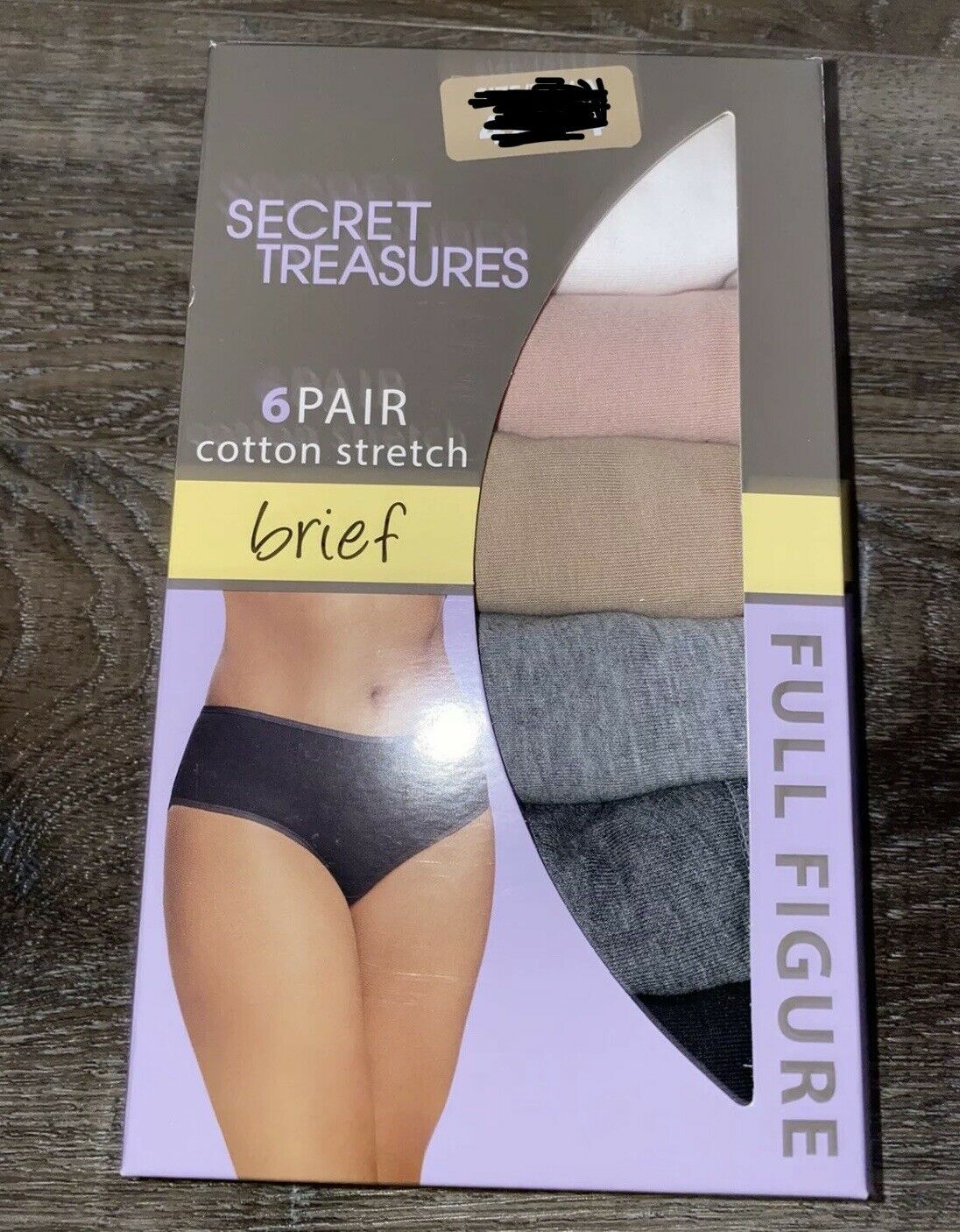 Secret Treasures Cotton Stretch Brief Size XXXL//10 6-Pack Tag Free New