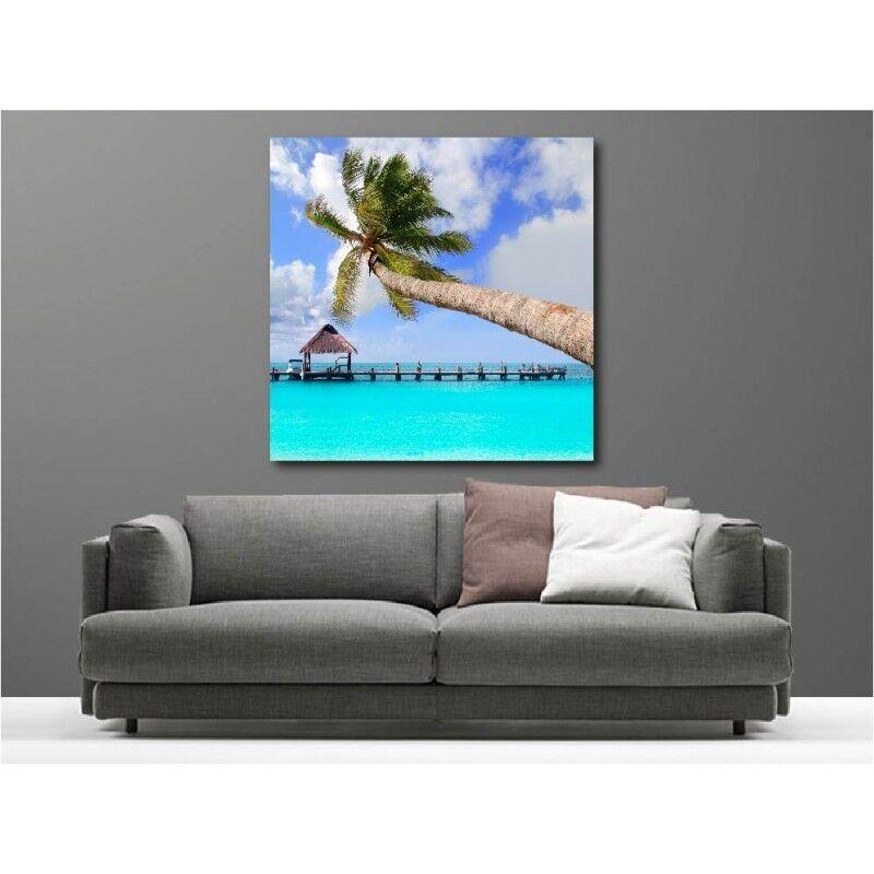 Wandbild Leinwand Deko Palme Meer Tropen 85423771