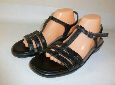 SAS Capri Sandals Women's Black Leather