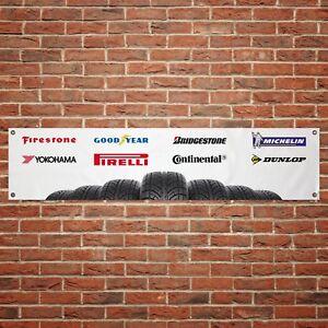 Yokohama Tyres Logo Banner Garage Workshop Sign Printed PVC Trackside Display