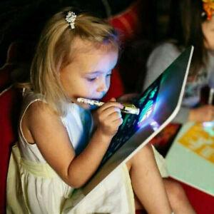 3D-Magic-Pad-Kinder-Spielzeug-Light-Up-Led-Board-Zeichnung-Tablet-30x40CM-A3