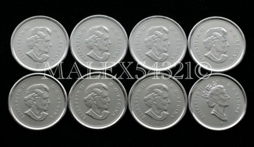 CANADA 2003 TO 2008 SET OF 10 CENTS UNC 8 COINS