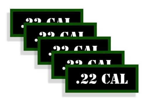 Ammo Can Labels 22 CAL Ammo Can Decals .22 Ammunition Ammo Can Stickers  5-pack