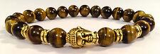 Golden Buddha/Tiger's Eye Beaded Shamballa Stretch Bracelet Men/Women
