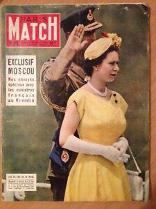 Paris Match du 26 Mai 1956 Les 30 ans de la reine Elizabeth II - France - État : Bon état: Livre ayant déj été lu, mais qui est toujours en bon état. La couverture présente des dommages mineurs, comme des éraflures, mais n'est ni trouée ni déchirée. Pour les couvertures rigides, la jaquette n'est pas nécess - France