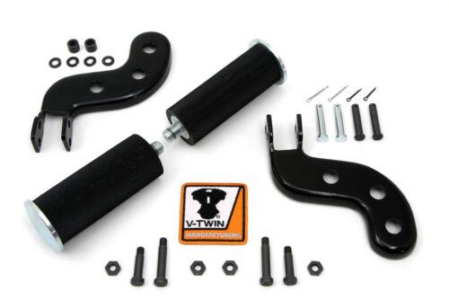 Buddy Seat Footpeg Set Black V-Twin 27-1252