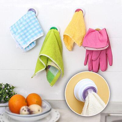 Useful Bathroom Storage Wash Cloth Towel Clip Kitchen Towel Storage Rack esca EV