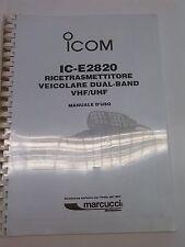 MANUALE IN ITALIANO istruzioni d'uso per ICOM IC-2820