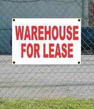 2x3 WAREHOUSE FOR LEASE Red & White Banner Sign NEW Discount Size & Price