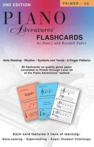 Faber Piano Adventures Flashcards In A Box Learn to Play SIGHTREAD MUSIC BOOK