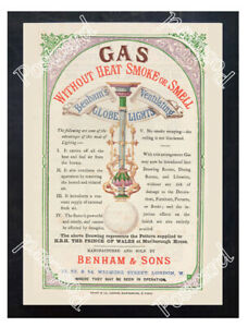 Historic-gas-lights-by-Benham-amp-Sons-Advertising-Postcard
