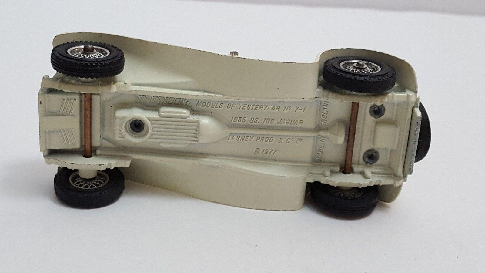 MATCHBOX MODELS OF YESTERYEAR Y1-3 Y1-3 Y1-3 1936 SS 100 JAGUAR ISSUE 1 (A16) 0365b3