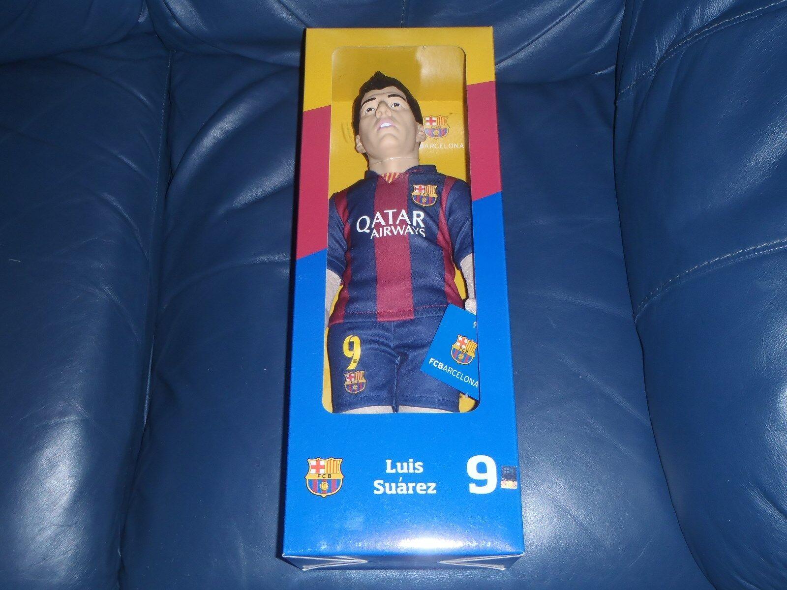 "Official Boxed ""Luis Saurez  Barcelona FC Footballer Figure  NEW"