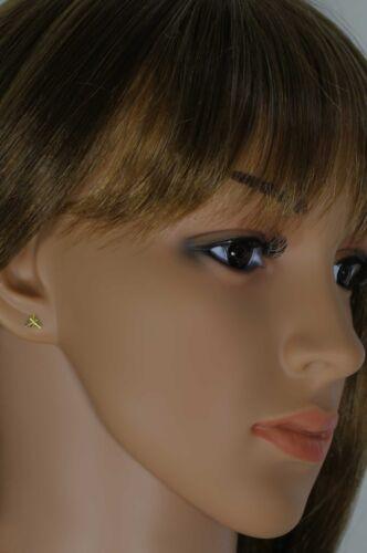 VASCAYA Damen Ohrstecker Ohrring Gold 333 Dreieck diamantiert groß Geschenk
