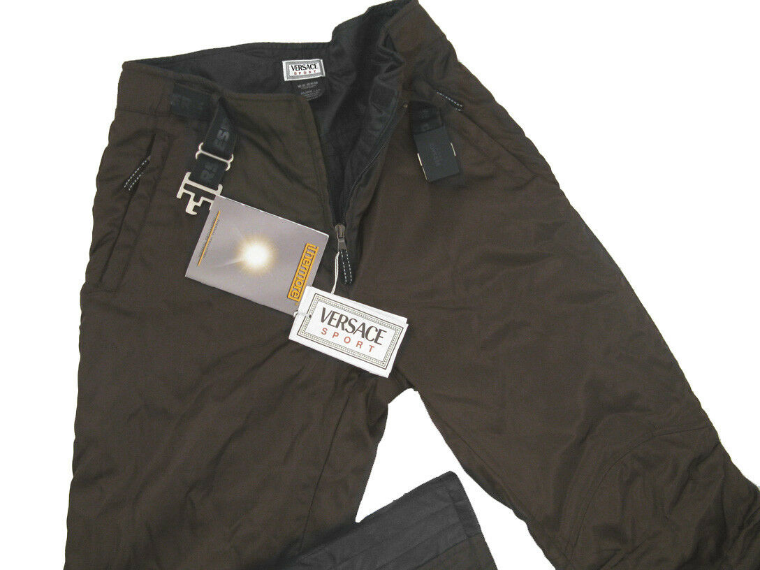 NEW  980 Versace Sport Womens Ski Pants    US 10  e 44  Brown  Thermore Insulated  big discount