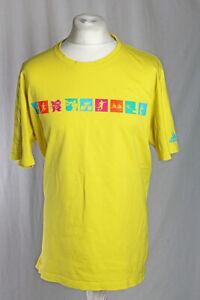 Adidas London Olympics 2012 Event T-Shirt Yellow Size 2XL Cycling Football VGC!