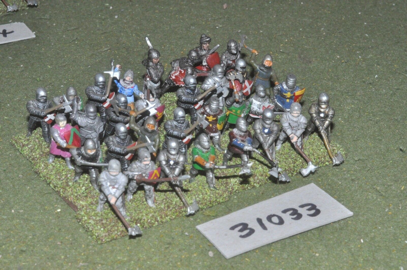 25mm classical   english - dismounted men at arms 32 figures - inf (31033)