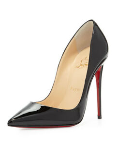 Christian-Louboutin-Black-So-Kate-120-Patent-Leather-Pumps-Heels-Size-38