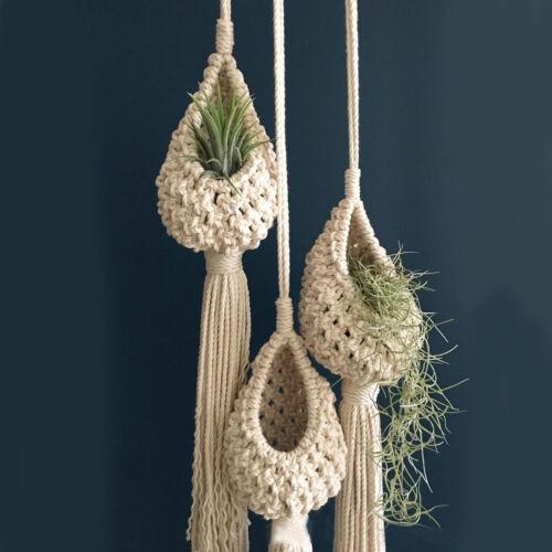 Macrame Plant Hanger Basket Garden Hanging Planter Rope Flower Pot Holder decor