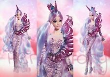 NRFB With Shipper Unicorn Goddess Barbie Mythical Muse Series #FJH82 Gold Label