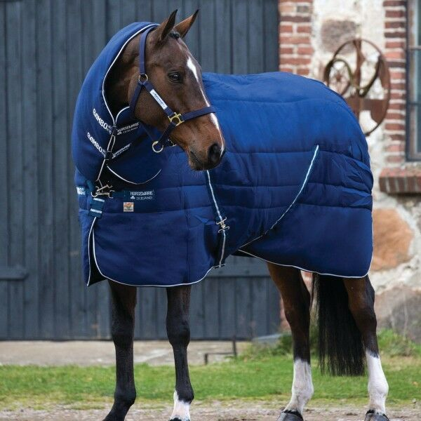 Horseware  Rambo Stable Plus With Vari Layer 450g Navy & White  100% authentic