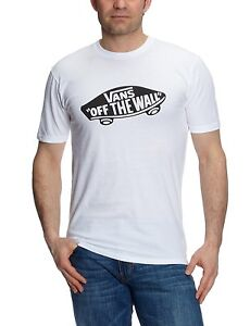 Details zu VANS Off The Wall New Men's Print Logo T Shirt Top Tee S M L XL XXL White