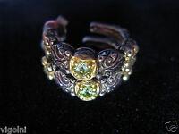 Barbara Bixby Earrings Peridot 18k Ss Hoop Flower Diamond Gift Designer