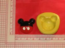 Mickey Mouse 2D Silicone Mold Food 702 Cake Topper Candy Resin Clay Flexible