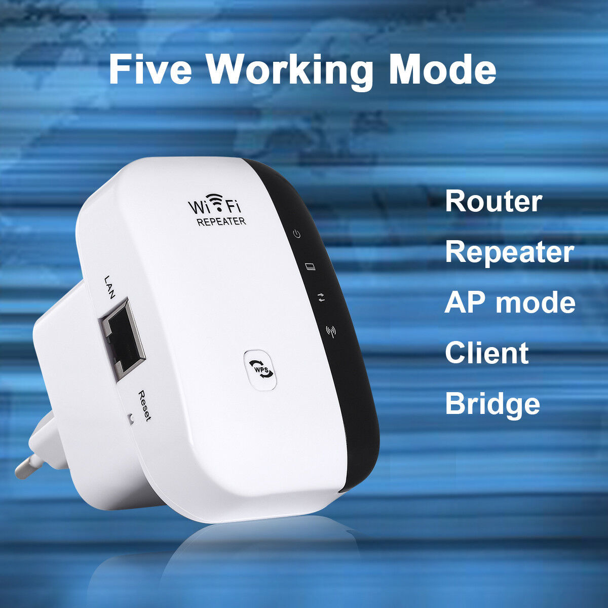300Mbps Wifi Repeater Wireless-N 802.11 AP Router Extender Signal Booster Range 4