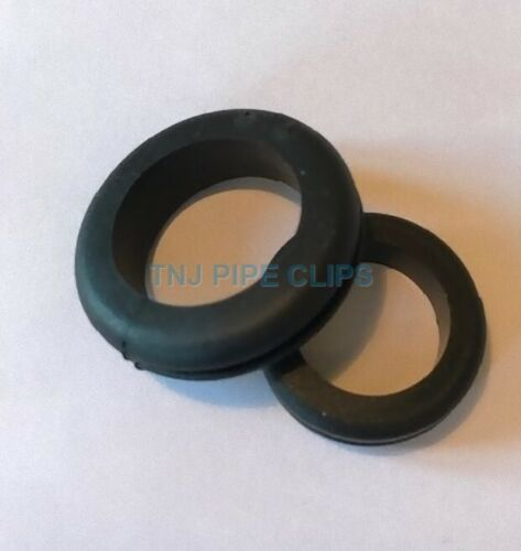20mm Black Rubber Open Cable Wiring Grommet Metal Box Hole Protector 25mm