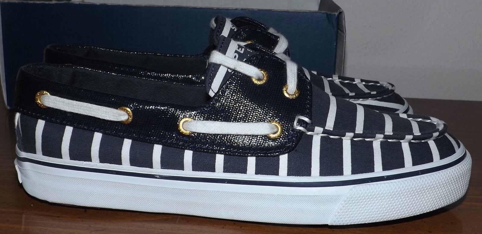 sperry haut sider biscayne bleu marine et et marine blanc confortable semelle intérieure chaussures femme taille 6 7dc8b1