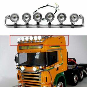 Para-1-14-Tamiya-scania-r620-r470-RC-tractor-camion-Lesu-LED-top-luz-spotlights