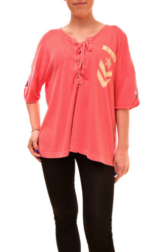 Women's Wildfox Bcf84 Rad S Shirt Size Authentic Rrp Maxwell Red £80 dvqAvr