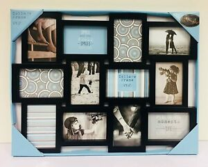 Large-Black-12-Picture-Multi-Aperture-Photo-Frame-4-039-039-x6-039-039-Collage-Frame