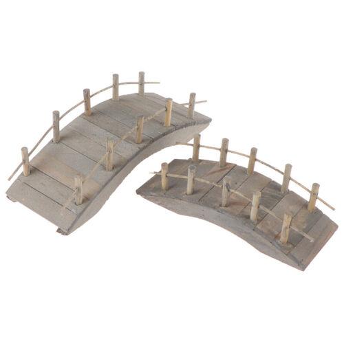 1:12 Dollhouse Miniatures Mini Wooden Arch Bridge Garden Ornament AccessoriBE