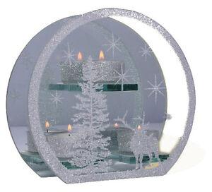 Teelichthalter-oval-3-Teelichter-aus-Glas-Motiv-034-Hirsch-034-200x180-mm