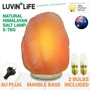 Natural-Himalayan-Salt-Lamp-Marble-Base-5-7kg-FREE-SPARE-BULB-W-EVERY-ORDER
