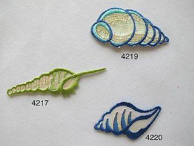 #4217,#4219,#4210 Ocean Conch Embroidery Iron On Applique Patch