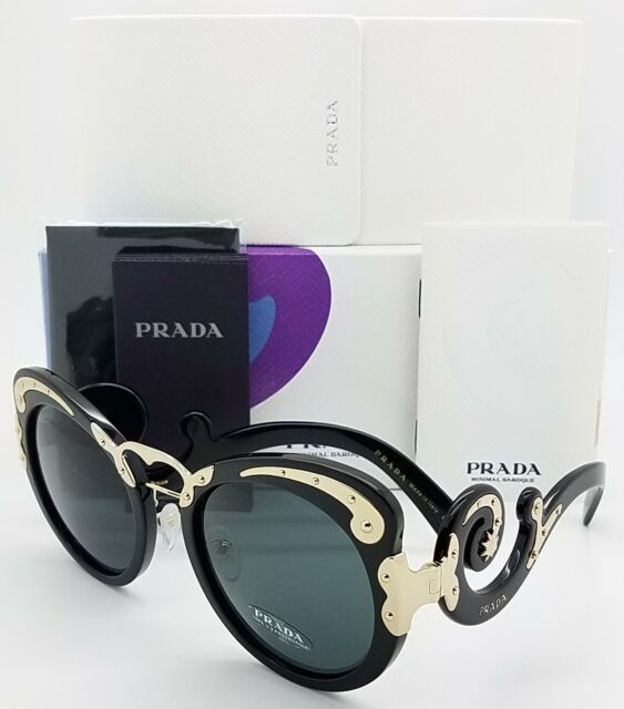 c71bf1437de New Prada sunglasses PR07TS 1AB1A1 Black Swirls MINIMAL BAROQUE PR 07  AUTHENTIC