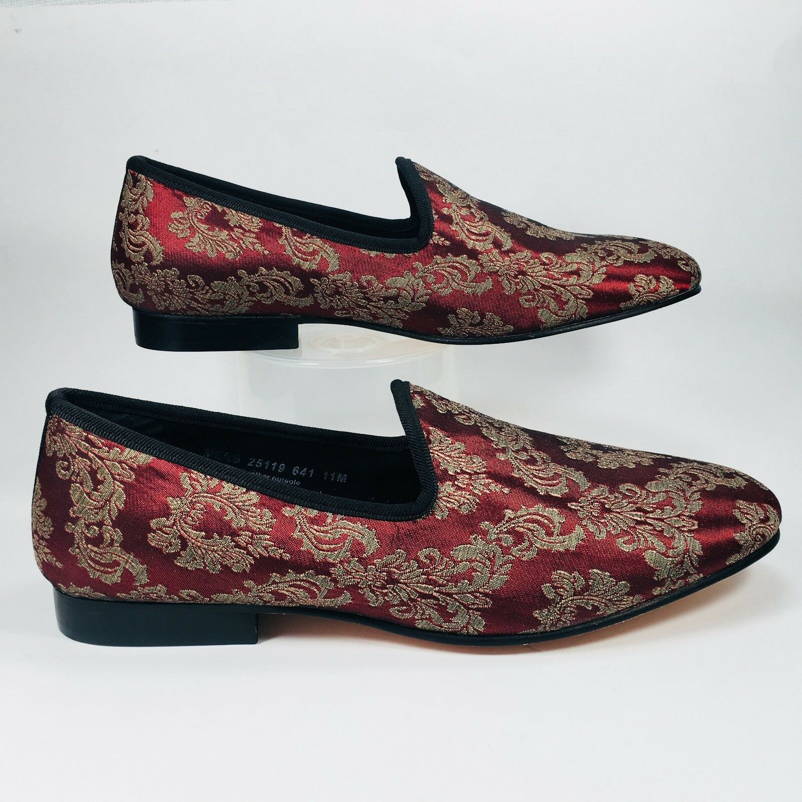 Stacy Adams Venice Venice Venice Burgundy Gold Elegant Tapestry Slip On Loafer Shoe Size 11 255f94