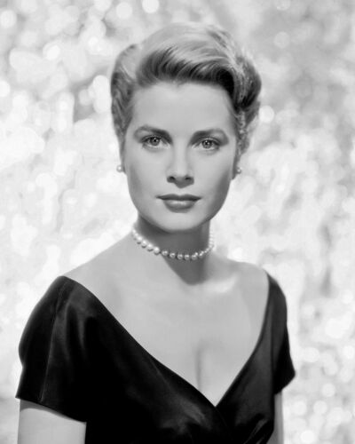 GRACE KELLY Famous Actress Historic Fashion Beauty Black and White Photograph