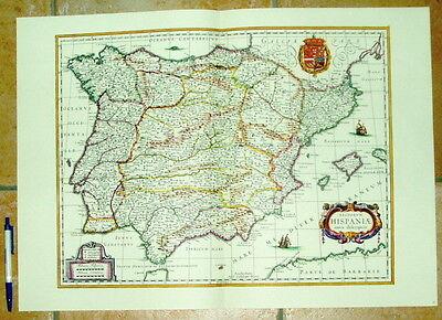 UnabhäNgig Spanien Hispaniae Alte Landkarte Reproduktion 60 X 43 Cm Old Map Spain