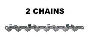 """2 Chainsaw Saw Chain Blade for Dewalt 16/"""" .043/"""" Gauge 56DL"""