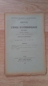 Compendio Mensile - Rivista Di SCUOLA Antropologia Di Parigi - 1899 - N°8