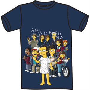 T-shirt-Simpson-Stranger-Things-misura-L