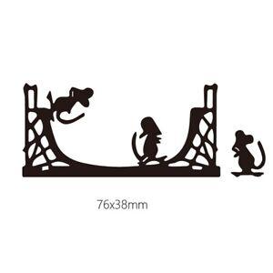 Stanzschablone-Maus-Tier-Hochzeit-Oster-Weihnachts-Geburtstag-Album-Karte-Deko