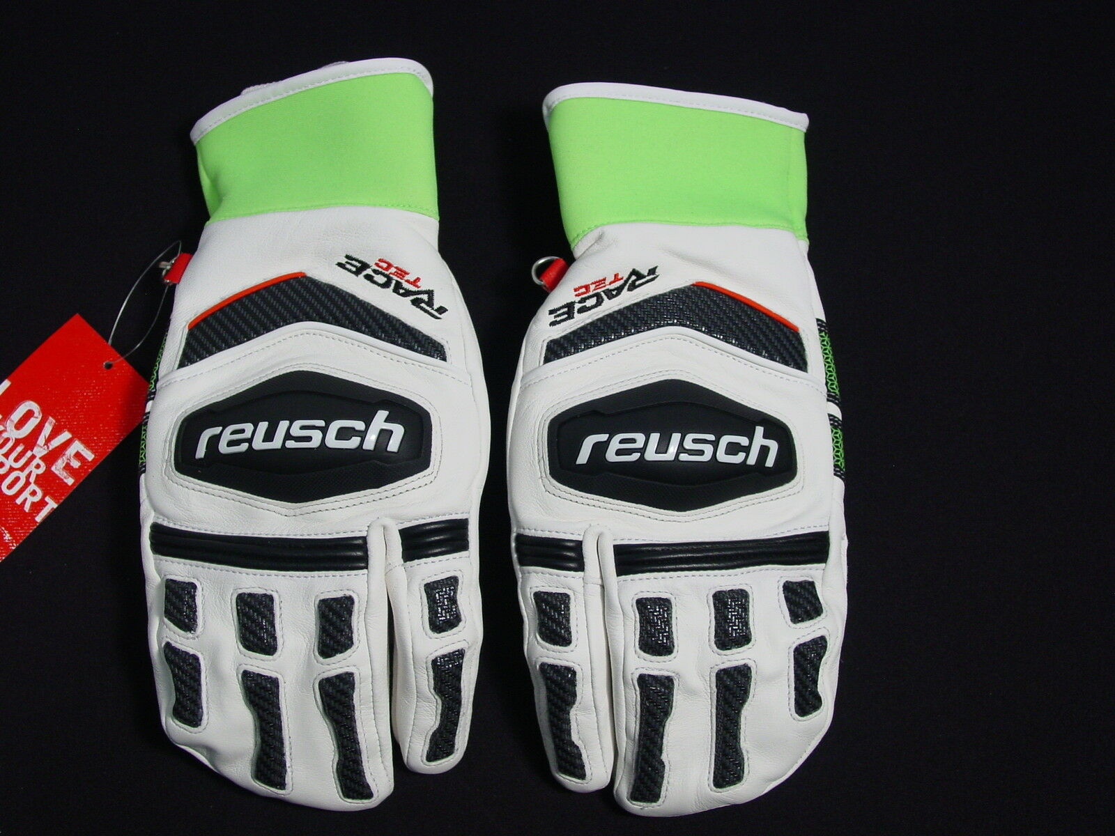 Reusch ALL LEATHER RaceTec 16 Racing Ski LOBSTER Mittens Adult Medium 4611715S