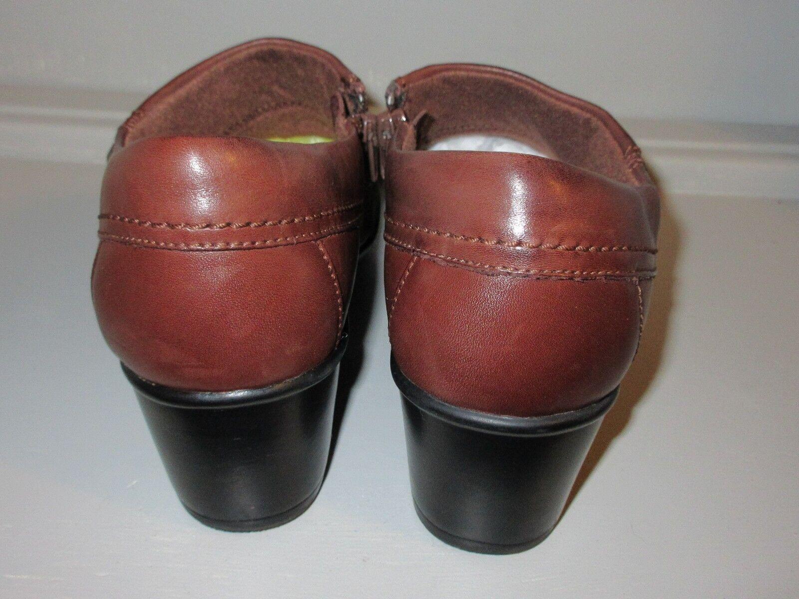 Clarks Para Mujer Talla 7.5 Tobillo cremallera Botines Marrón comodidad cuñas tamaño con cremallera Tobillo 6dda72