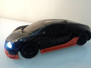 bugatti veyron ferngesteuert auto rc auto 1 18 schwarz orange streifen schnell ebay. Black Bedroom Furniture Sets. Home Design Ideas