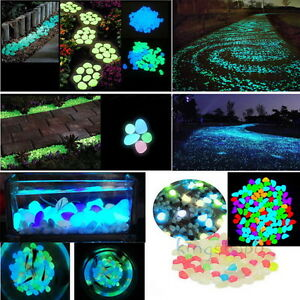 100g mixed color glow in the dark stones pebbles rock fish for Glow in the dark fish tank